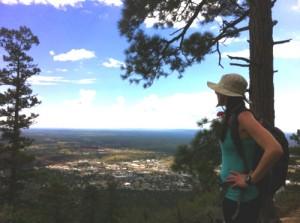Taking a break from the intense climbing on Mt. Elden.